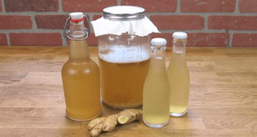 Ingefärsvatten för viktminskning i flaskor