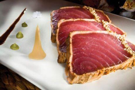Stekt tonfisk