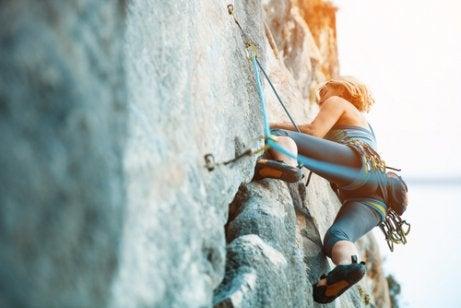 Adrenalin vid klättring