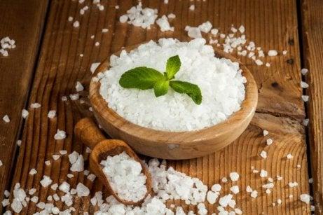 Epsomsalt är rikt på magnesium