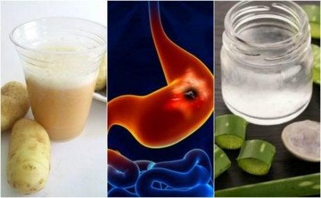 5 huskurer för att läka magsår snabbare