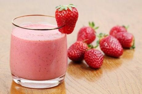 Smoothie med jordgubbar