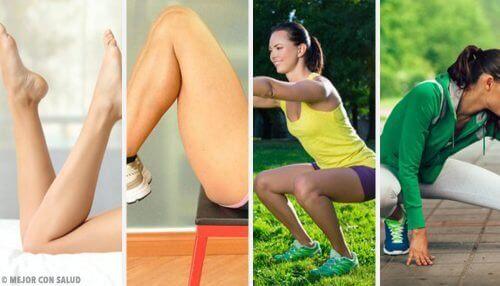 Träna benen i hemmet med dessa övningar