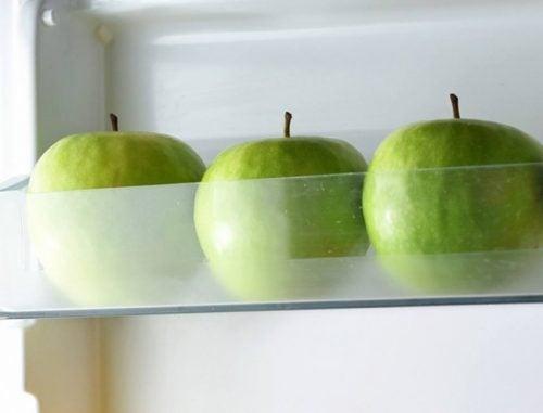 Förvaring av äpplen