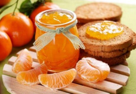 Nyttig mandarinsylt som stärker immunförsvaret.