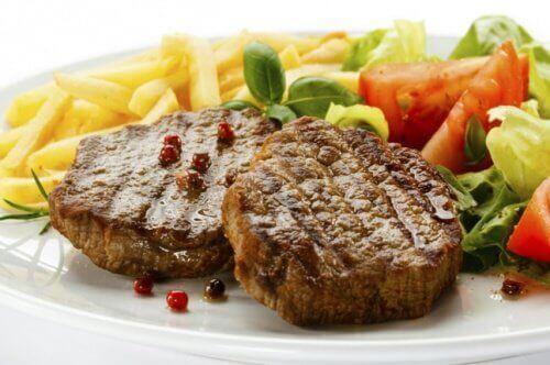 Maträtt med kött
