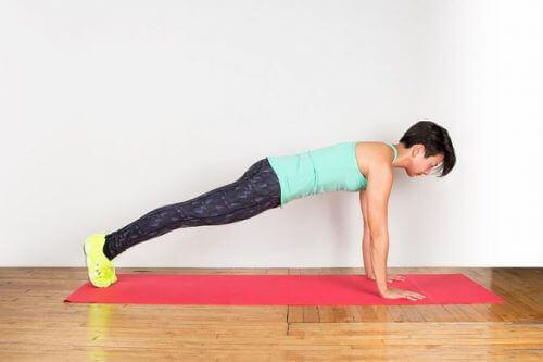 Övning på matta