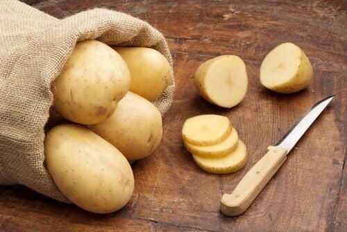 potatis för ögonen