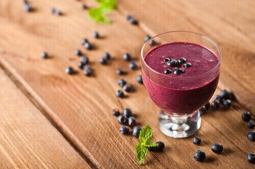Dryck med blåbär