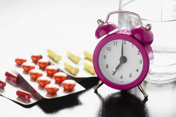 Piller och klocka