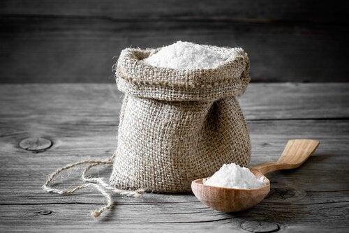 Salt i tygpåse