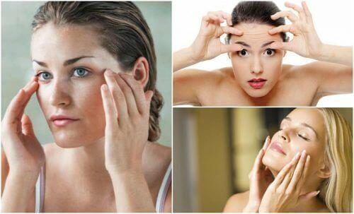 Slippa slapp hud med 6 ansiktsövningar
