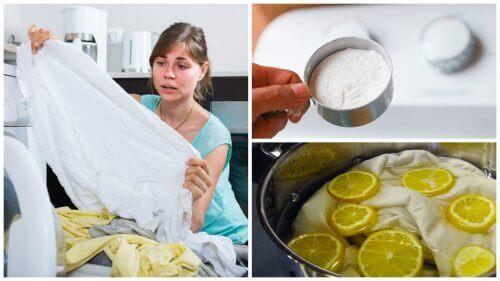 Gula fläckar på vita kläder? Upptäck dessa 5 trick