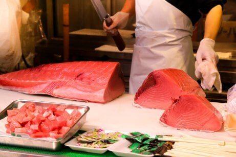 Undvik röd tonfisk