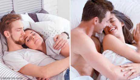 5 gester lyckliga par gör innan de somnar