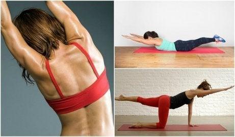 5 viktfria övningar för att undvika smärta i ryggen