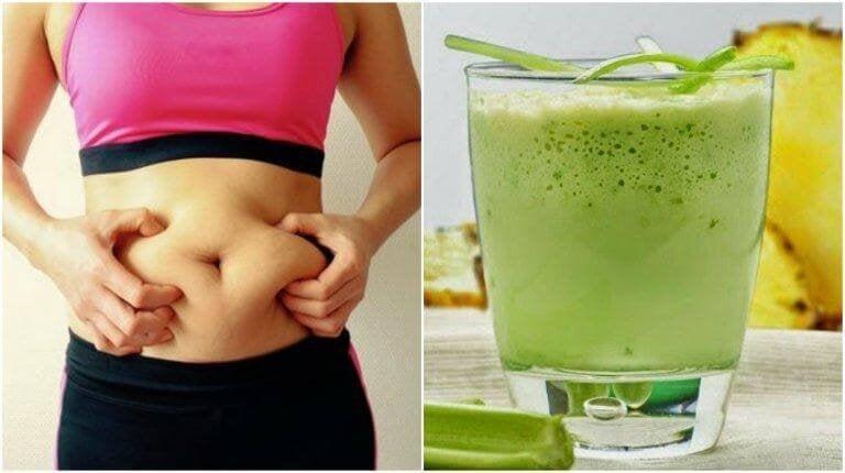 Gör en selleri- och ananassmoothie för att gå ner i vikt