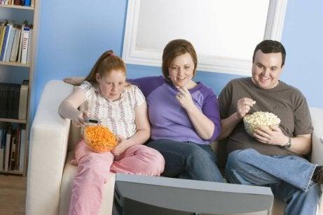 En överviktig familj