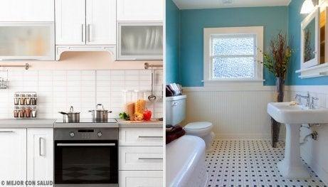 Tips för ett luktfritt badrum och kök