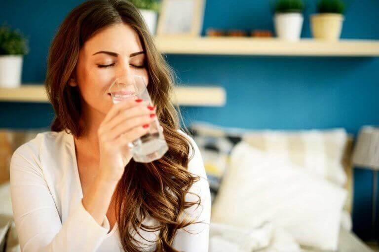 Glöm inte bort att dricka vatten