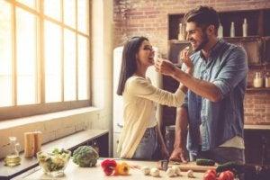 Par i köket