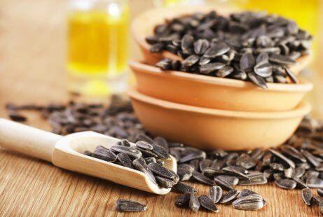 Solrosfrön har B-vitaminer