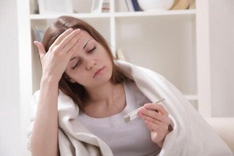 Symptom på flebit