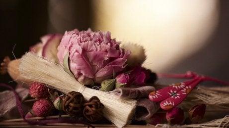 Torkade blommor och örter