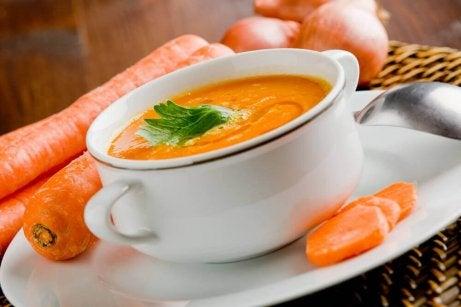 Soppa på morötter