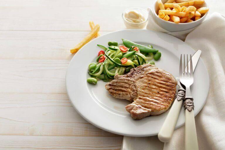 Att äta för stora middagar är kvällsvanor som ökar vikten