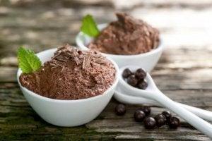 Chokladmousse med få kalorier