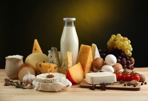 Kalcium finns i mejeriprodukter