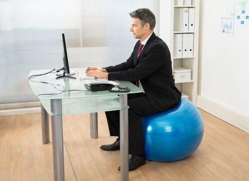 Pilates på kontoret
