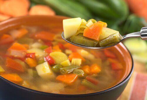 Soppor med grönsaker