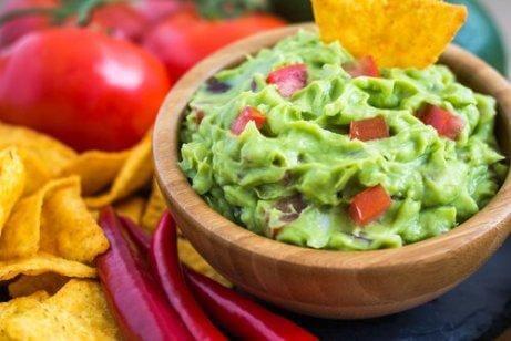 Hemlagad läcker guacamole