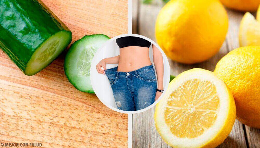 Slimma ner med en smoothie med gurka, citron och mynta