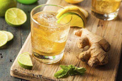 Ingefäravatten med citron