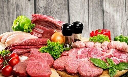Olika typer av kött