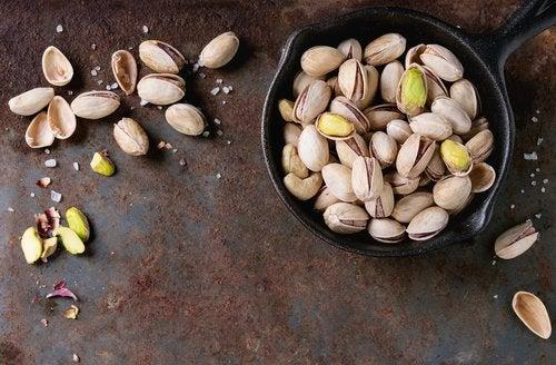 Pistagenötter håller dig i form