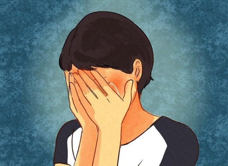 Gråtande person