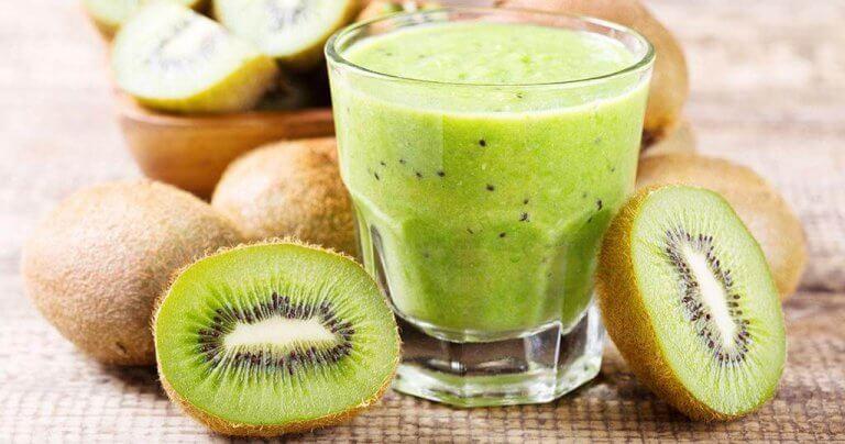 Kiwi och spenat