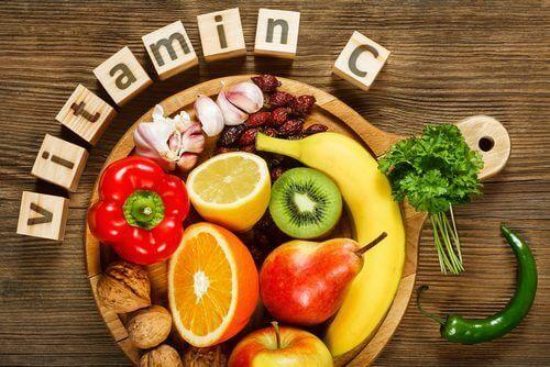 Livsmedel med vitamin C