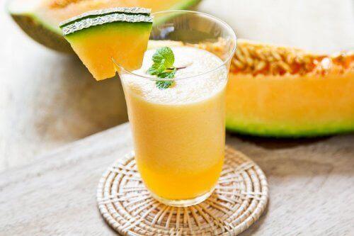 Melonsmoothie för viktnedgång