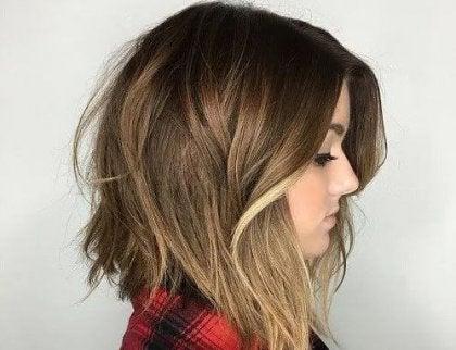 snygga halvkorta frisyrer