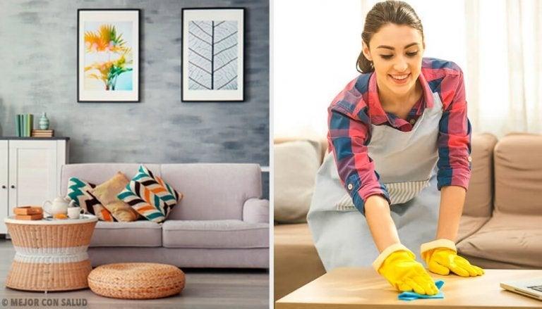 5 städvanor för att hålla huset i ordning