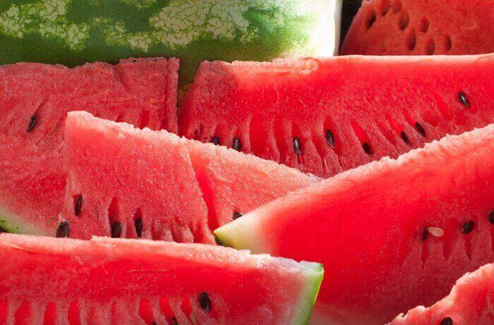 Vattenmelon är återfuktande