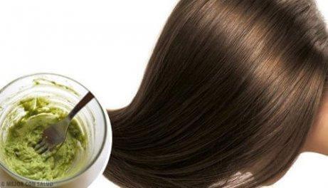 Gör en guacamole-hårinpackning