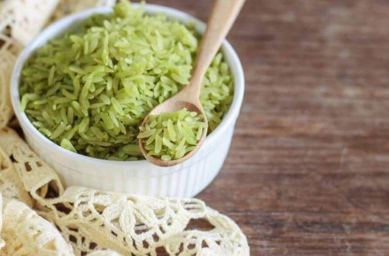 Prova på ett läckert recept på grönt ris
