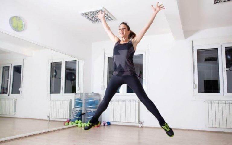 Hoppa för att förbättra kondition och andning