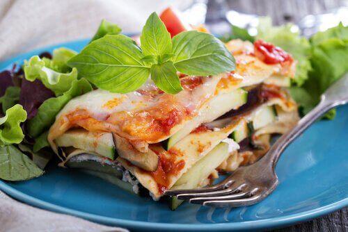 Lasagne och sked